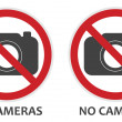 No Cameras Sign — Stock Vector