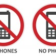 No Phones Sign — Stock Vector #25777349