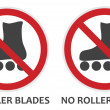 No Rollerblades Sign — Stock Vector