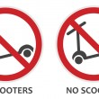 No Scooters Sign — Stock Vector #25777369