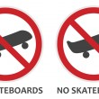 No Skateboards Sign — Stock Vector