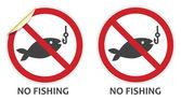 No Fishing Sign — Stock Vector