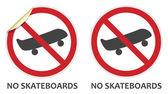 No Skateboards Sign — Stock Vector