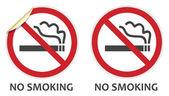 No Smoking Sign — Stock Vector