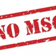 No MSG Rubber Stamp — Stock Vector