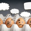 Stock Photo: Thought Balloon Egg Characters