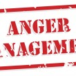 Anger Management Rubber Stamp — Stok Vektör