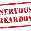 Nervous Breakdown Rubber Stamp — Image vectorielle
