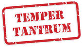 Temper Tantrum Rubber Stamp — Stock Vector