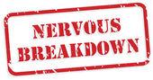 Nervous Breakdown Rubber Stamp — Stock Vector