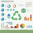 Vector de stock : Sustainability Infographic Vector