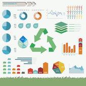 Infografía vector de sostenibilidad — Vector de stock