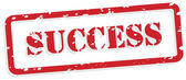 Success Rubber Stamp Vector — Stock Vector