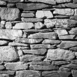 Stone Wall Black and White — Stock Photo