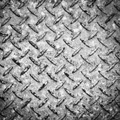 Checkerplate Background Black and White — Stock Photo