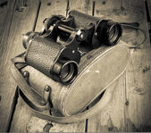 Old Binoculars Filtered — Stock Photo