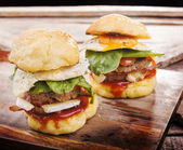 Hamburger Sliders — Stockfoto