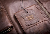 Leather Tag — Stock Photo