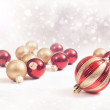 Red and Gold Ornaments — Stock Photo