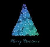 Blue and purple christmas tree — Stockfoto