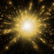 Gold abstract explosion — Stock Photo