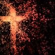 Stock Photo: Abstract cross explosion