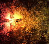 Abstract cross explosion — Stock Photo
