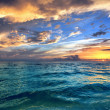 Tropical Beach sunset — Stock Photo