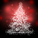 Bright christmas tree — Stock Photo