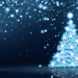 Glowing Christmas Tree Card — Stockfoto