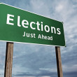 Election Road Sign — Stock Photo