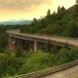 Linn Cove Viaduct Panorama — Stock Photo