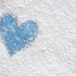 Heart in snow — Stock Photo