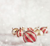 Red and Gold Christmas — Stock Photo