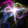 Beautiful colorful fractal lines on black background — Stock Photo