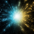 Blue and gold abstract explosion — Stock Photo #30837775