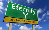 Eternity Road Sign — Stock Photo