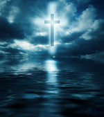 Cross and waters — Stockfoto