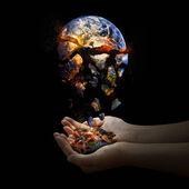 Falling apart world. — Stock Photo