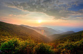 Sunset in the mountains — Stock Photo