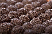 Handmade chocolates ball — Stock Photo
