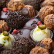 Handmade chocolates - Stock Photo
