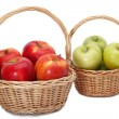 Baskets of apples — Stock Photo
