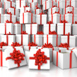 Stock Photo: Gift boxes background texture