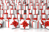 Gift boxes background texture — Stock Photo