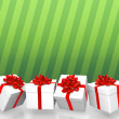 Gift boxes background — Stock Photo