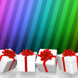 Gift boxes background — Stockfoto
