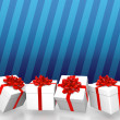 Gift boxes background — 图库照片