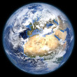 Foto Stock: Rendered three dimensional earth