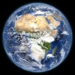 Rendered three dimensional earth — Foto de Stock